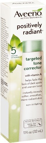 Aveeno Positively Radiant Targeted Tone Corrector 1.1oz (Pack of 2)