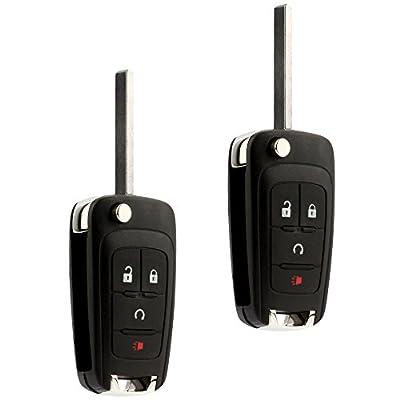 Car Key Fob Keyless Entry Remote Flip fits 2010-2020 Chevy Equinox, Sonic, Trax, Terrain (OHT01060512), Set of 2: Automotive