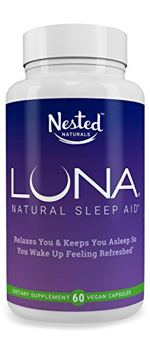 LUNA | #1 Natural Sleep Aid on Amazon | 60 Non-Habit Forming Vegan Capsules | Herbal Sleeping Complex with Melatonin 6mg, Valerian, Chamomile, Magnesium 10mg & More | Relax and Calm Supplement Pills