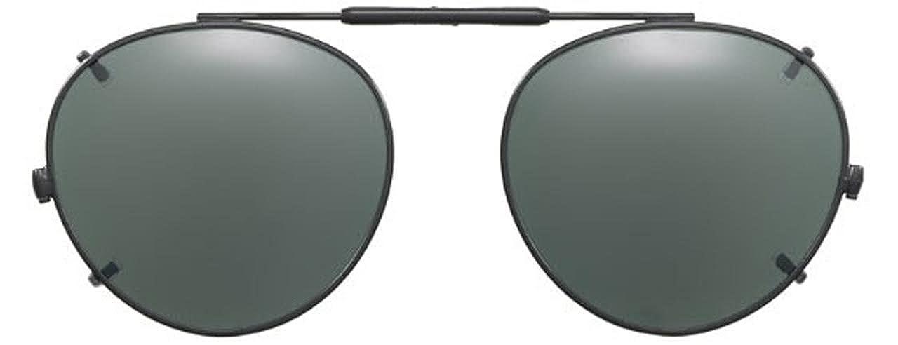 ca9947fb0c Visionaries Polarized Clip on Sunglasses - Round - Black Frame - 47 x 42  Eye at Amazon Men s Clothing store