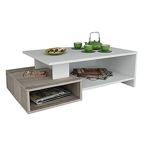 Tavolini Bassi Salotto Moderni.Dux Tavolino Basso Da Salotto Bianco Avola Materiale In Legno Tavolino Da Divano Tavolino Da Caffe Moderno In Un Design Alla Moda Con