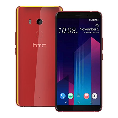 HTC U11 Plus (2Q4D100) 6GB / 128GB 6.0-inches LTE Dual SIM Factory Unlocked - International Stock No Warranty (Solar Red)