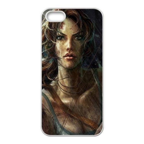 Tomb Raiderara Croft Game coque iPhone 4 4S cellulaire cas coque de téléphone cas blanche couverture de téléphone portable EOKXLLNCD20470