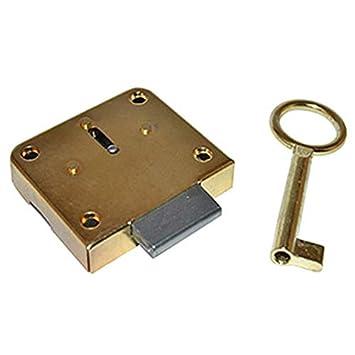 MERONI M42ROT25C701L - Cerradura mueble parche 42/25 con llave: Amazon.es: Bricolaje y herramientas