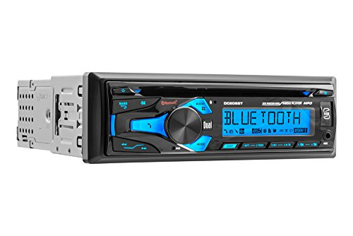 Dual Electronics DC206BT Multimedia 3.7 inch Single DIN Car Stereo with Bluetooth & Built- In CD/MP3 Player
