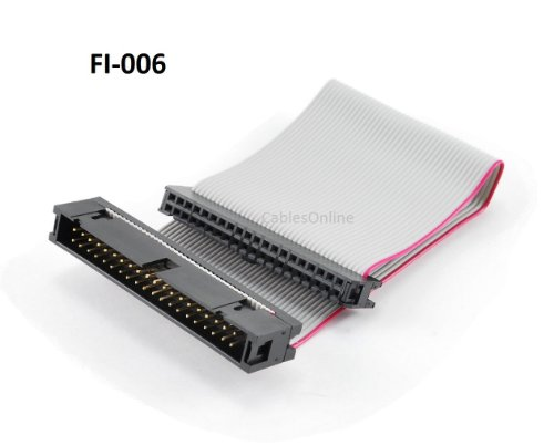 6 inch 40-Pin IDE Male to Female Extension Cable (FI-006) (40 Pin Ide Cable Female To Female)
