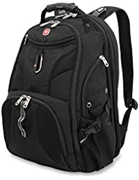 1900 ScanSmart Laptop Backpack | Fits Most 17 Inch Laptops and Tablets | TSA Friendly Backpack | Ideal for Work, Travel, School, College, and Commuting- Black