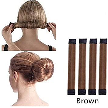 Souteam Magic Hair Style Donut Bun Sock Bun Pack Of 4 Maker Form French Twist Hair Style Diy Tools For Woman Girl Ladies Amazon In Beauty
