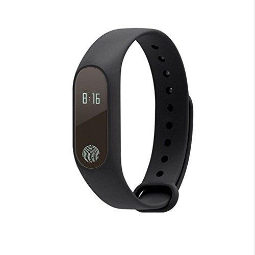 M2 BT 4.0 Smart Watch With Sports Pedometer, Call reminder, Heart Rate Monitor, Waterproof, Sleep Tracker (black)