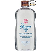 Johnson's Baby Oil Shea and Cocoa Butter, 20 Ounce (Pack of 2)