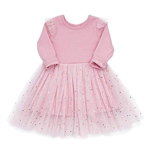 (Toddler Girls Dresses Tutu Party Sequins Stars Prints Tulle Princess Style 6m to 4t (3T,)