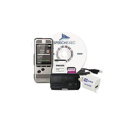 Philips Digital Pocket Memo Range Recorder with Power Adapter and Premium Case with Belt Clip