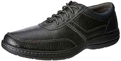 Hush Puppies Men's Elkhound MT Oxford Shoes, Black Leather, 10 US