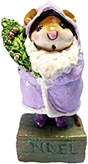 product image for Wee Forest Folk M-164 Father Chris-Mouse - Purple (Retired)