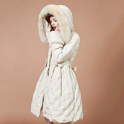 90 Chaquetas Desmontable Mujer A Piel Pato Fresco Cuello Pluma Bordado Abajo Blanco Hecho Mano Gruesa Flores ropa Abrigo Zorro Decorati De Mujer gqgnwxF0r6