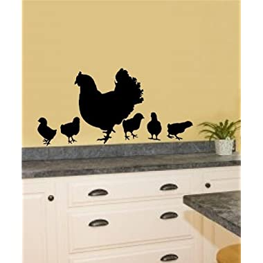 Chickens Hen Baby Chicks Vinyl Decal Wall Stickers Home Kitchen Décor