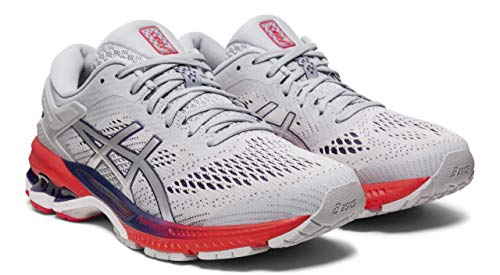 Kayano Womens Gel Asics - ASICS Women's Gel-Kayano 26 Running Shoes, Piedmont Grey/Silver, 8.5 M US