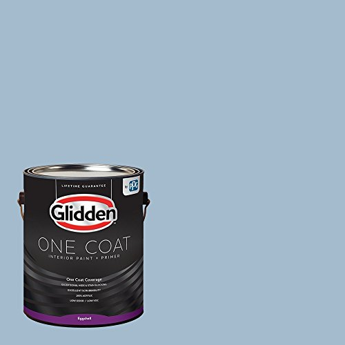 Glidden Interior Paint + Primer: Blue/Heavenly Blue, One Coat, Eggshell, 1-Gallon