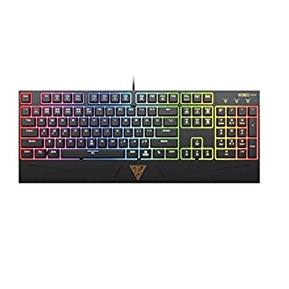 GAMDIAS Hermes RGB Mechanical Gaming Keyboard with Blue Switch, 6 Player Profiles, Lighting Effect & N-Key Rollover (GKB1050)