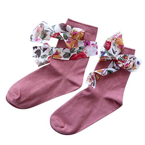 Tronet Athletic Socks/Women's Summer Vintage Lace-up Socks Print Ribbon Socks Cute Socks