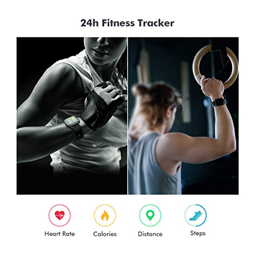 Smart Watch for Android Phone Compatible Koogeek Smart Watch for Men Women with Blood Pressure Monitor Fitness Tracker Blood Oxygen Meter Heart Rate Waterproof Smartwatch for iPhone iOS 2020 Upgraded