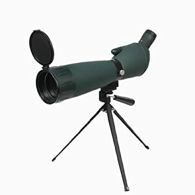 "Ultimate Arms Gear 25-75x75 Green Rubber Armored Sniper Spotter Hunting Spotting Scope + 9"" Tripod+Sunshade+Lens Kit"