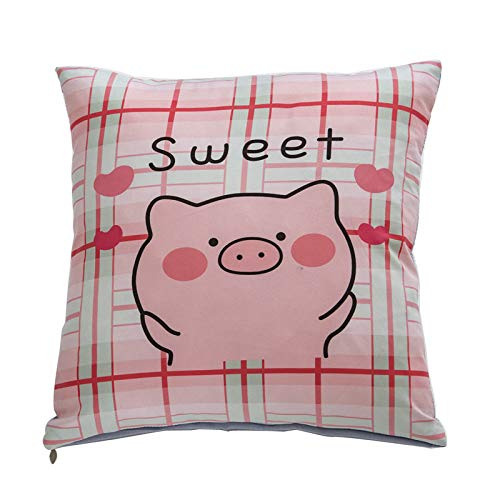 GQD - Cojin con diseno de dibujos animados para sofa, oficina, cama, respaldo, coche, cintura, cojin. Cerdo 45 x 45