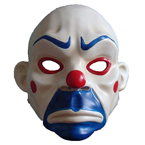 LXIANGP Halloween Horror Classic mask Robbers Real People can wear Clown Dark Knight cos]()
