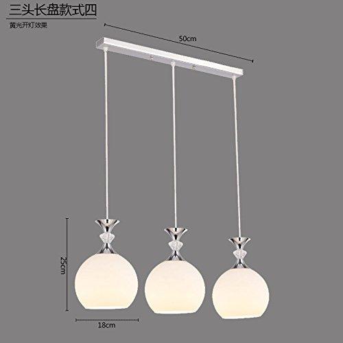 KANG@ Pendelleuchte Moderne Und Minimalistische Creative Glass D3-Kopf Langen Warmen Licht