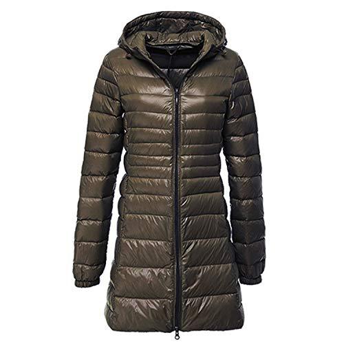 Winter Hooded Jacket Women Long Coat Women's Down Jackets Coats Campera Mujer,3Army Green,4XL