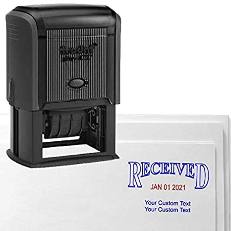 Amazon Received Custom Date Stamp Personalized Dater With 2 Lines Self Inking Stamper