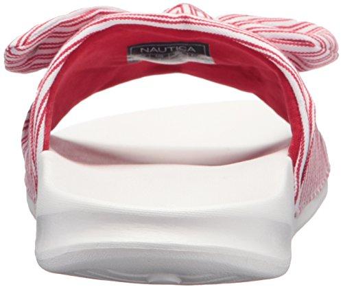 Nautica Womens Purser Slide Sandal Red Stripe QGl4wr