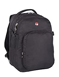 Swiss Gear 15.6-Inch Laptop Bag with Deluxe Features, Black, Under Seat