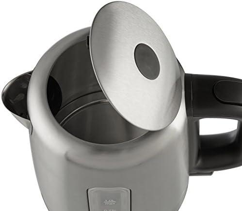 AmazonBasics Bouilloire électrique en acier inoxydable - 1 litre
