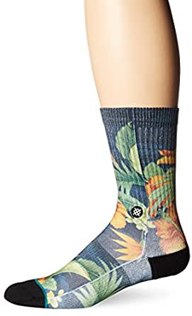 Stance Men's Two Scoops Crew Sock, Black, L