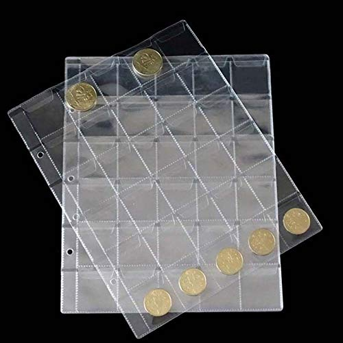 Coin Storage - 1pc 30 Pockets Book Portable Commemorative Coin Collection Album Storage Holder - Cent Capsule Nickels Tubes Coins Supplies Display Slab Case Collectors Sleeves Fifty Book Tray Do