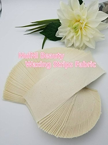 (Huini 100 count Natural Muslin Cloth Epilating Waxing Strips 3 X 9 inches)