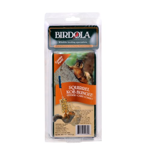 Birdola Bungee/Big Ol' Kob Feeder Combo for Squirrels by Birdola