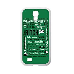 Super Danny Store Supernatural Quotes Protective TPU Rubber Cell Phone Cover Case for SamSung Galaxy S4,SIV Cases