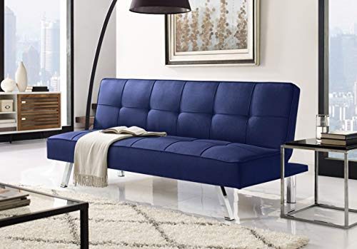 Convertible Sofa - Serta RNE-3S-NB-SET Rane Collection Convertible Sofa, L66.1 x W33.1 x H29.5, Navy Blue
