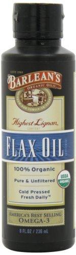 Barlean's Organic Oils High Lignan Flax Oil, 8-Ounce Bottles by Barlean's Organic Oils Barleans Lignan Rich Flax Oil