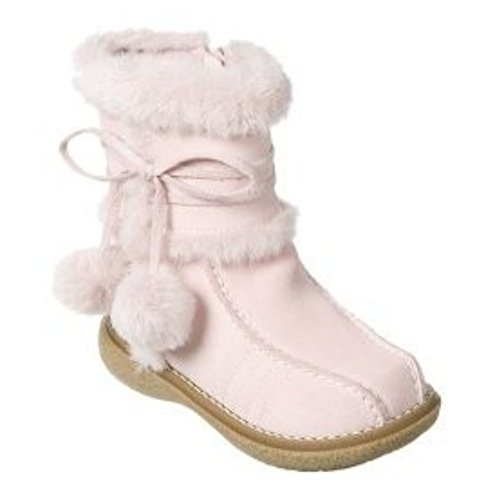 Larissa Toddler Girls Pink Suede Leather Winter Boots 6