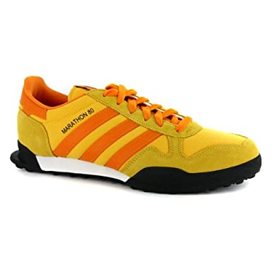 1e0efbdf89e6e4 adidas New Mens Marathon TR 80 Yellow Orange Trainers UK 11  Amazon.co.uk   Shoes   Bags