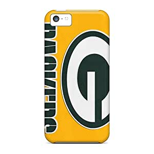 AlissaDubois Apple Iphone 5c Shock-Absorbing Hard Cell-phone Cases Unique Design Vivid Green Bay Packers Image [BPQ19949MjIJ]