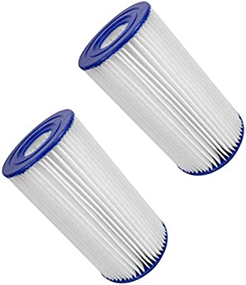 Summer Waves P57100202 Swimming Pool Pump Filter Cartridge, Type A/C Pack  of 2