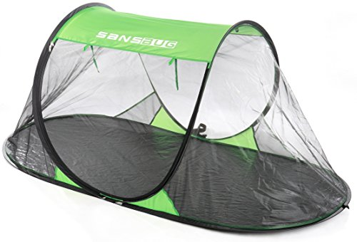 - SANSBUG 1-Person Free-Standing Pop-Up Mosquito-Net (Tarp Floor)