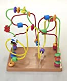 Looping, string through wooden toys twist middle (sea) wooden toys 29x19.5x28.5cm