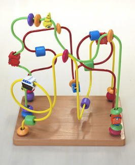 Looping, string through wooden toys twist middle (sea) wooden toys 29x19.5x28.5cm by Wooden toys Daiwa