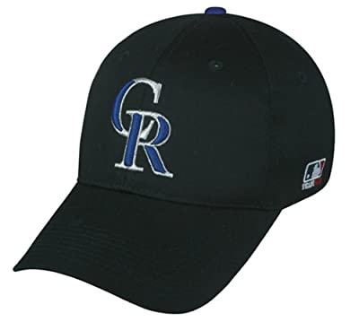MLB ADULT Colorado ROCKIES Home Black Hat Cap Adjustable Velcro TWILL New by Team MLB - Authentic Sports Shop