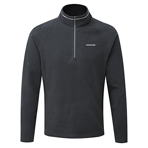 Craghoppers Men's Selby Half Zip Jacket, Black Pepper, X-Large from Craghoppers